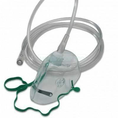 Детская кислородная маска с носовым зажимом и трубкой 2 м