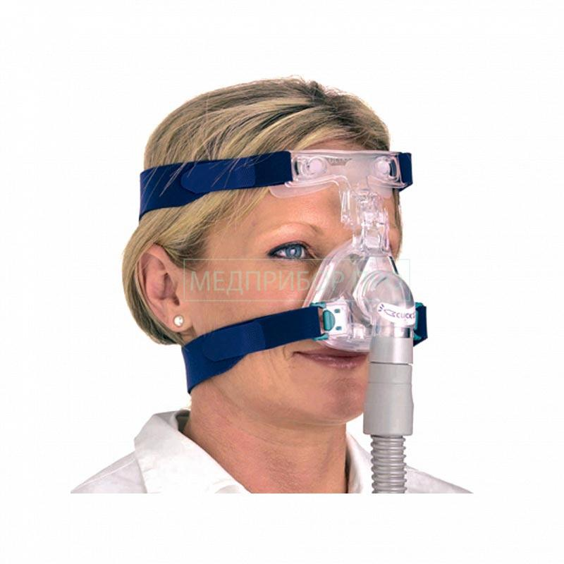 Маска Ultra Mirage примерка на пациенте