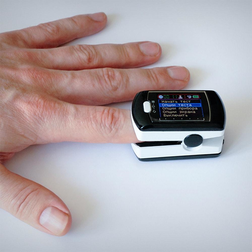 Пример использования АНГИОСКАН-01П на пальце