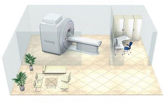 Установка МРТ Canon Vantage Elan в помещении