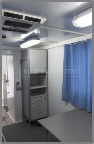 Интерьер передвижного флюорографического кабинета