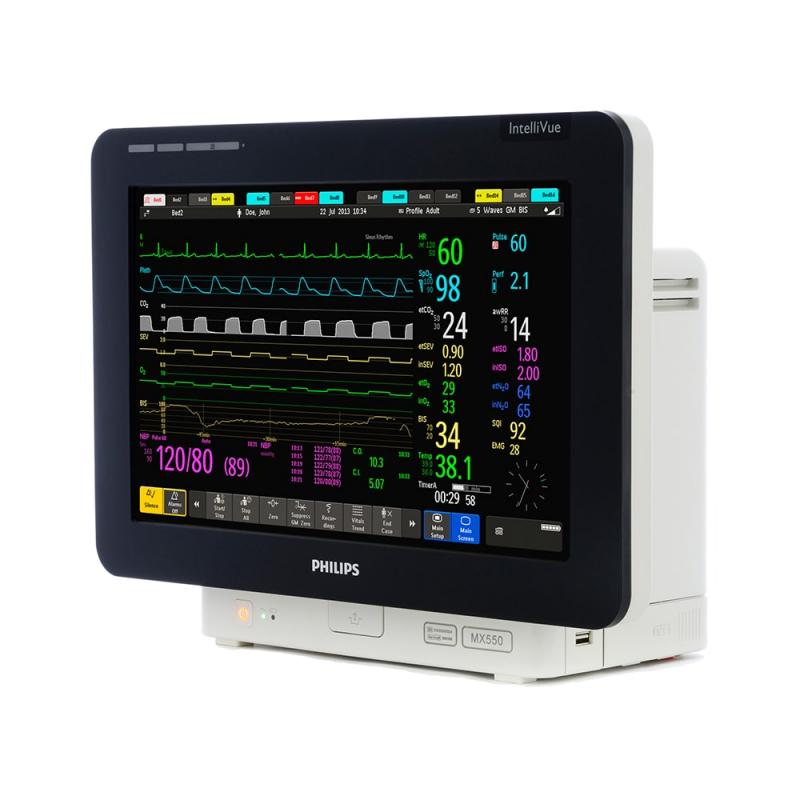 IntelliVue MX550 сочетает в себе высокотехнологичные функции прикроватного мониторинга