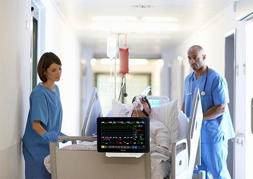 Преимущества большого монитора пациента IntelliVue MX550