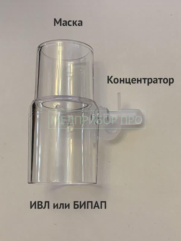 Переходник для подключения концентратора кислорода к ИВЛ