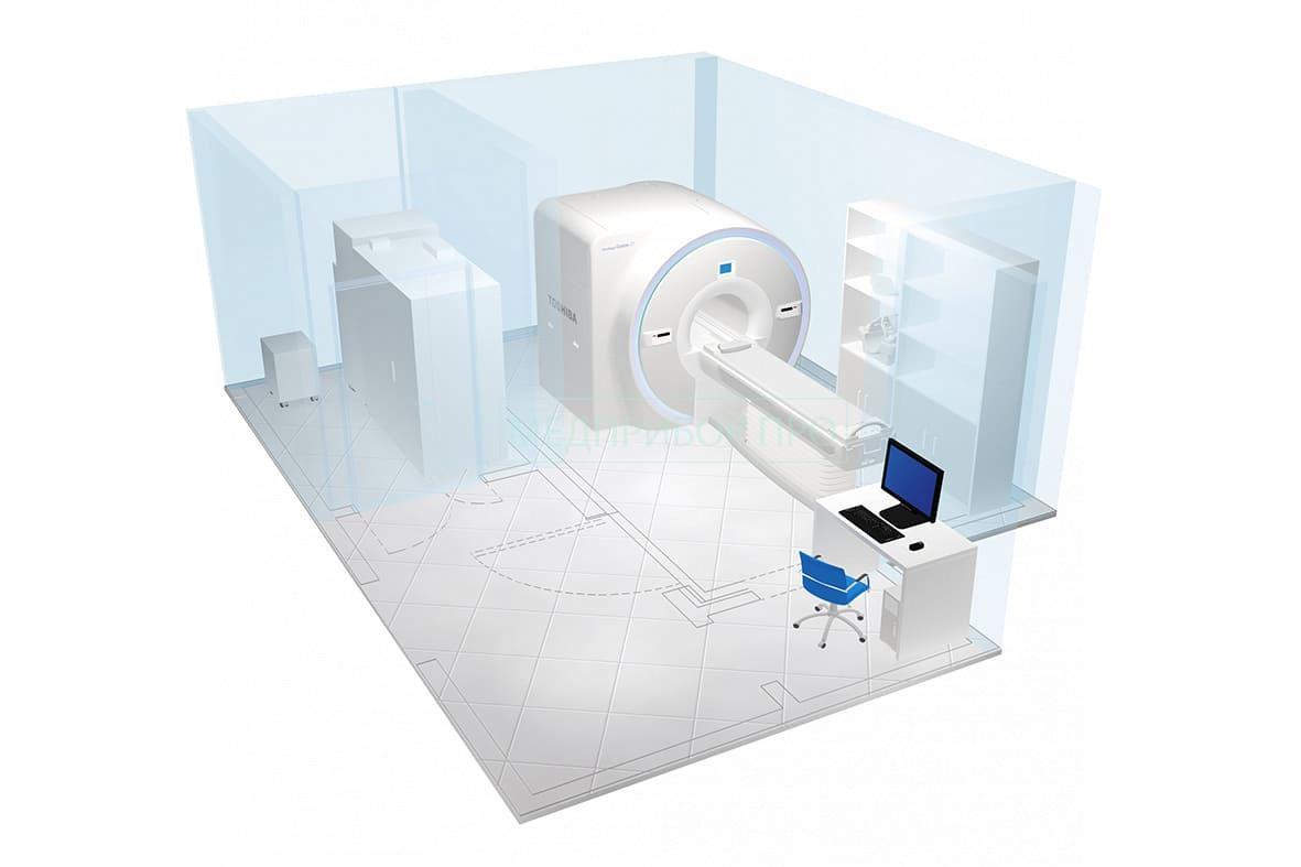 Помещение для установки и монтада томографа