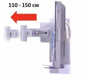 Блок перемещения рентгеновской трубки для увеличения фокусного расстояния.