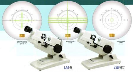Линзметр LM-8 имеет 3 типа мишений