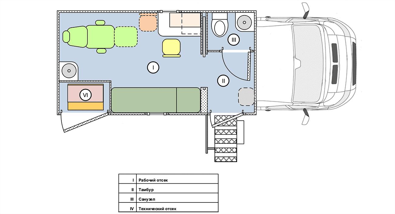Мобильный ФАП – 3 кабинета