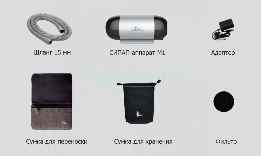 Комплект поставки СИПАП BMC M1